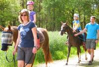 Camping und Reiten, Ponyführen für Kinder