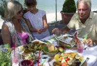 Insel-Restaurant auf dem Südsee-Camp