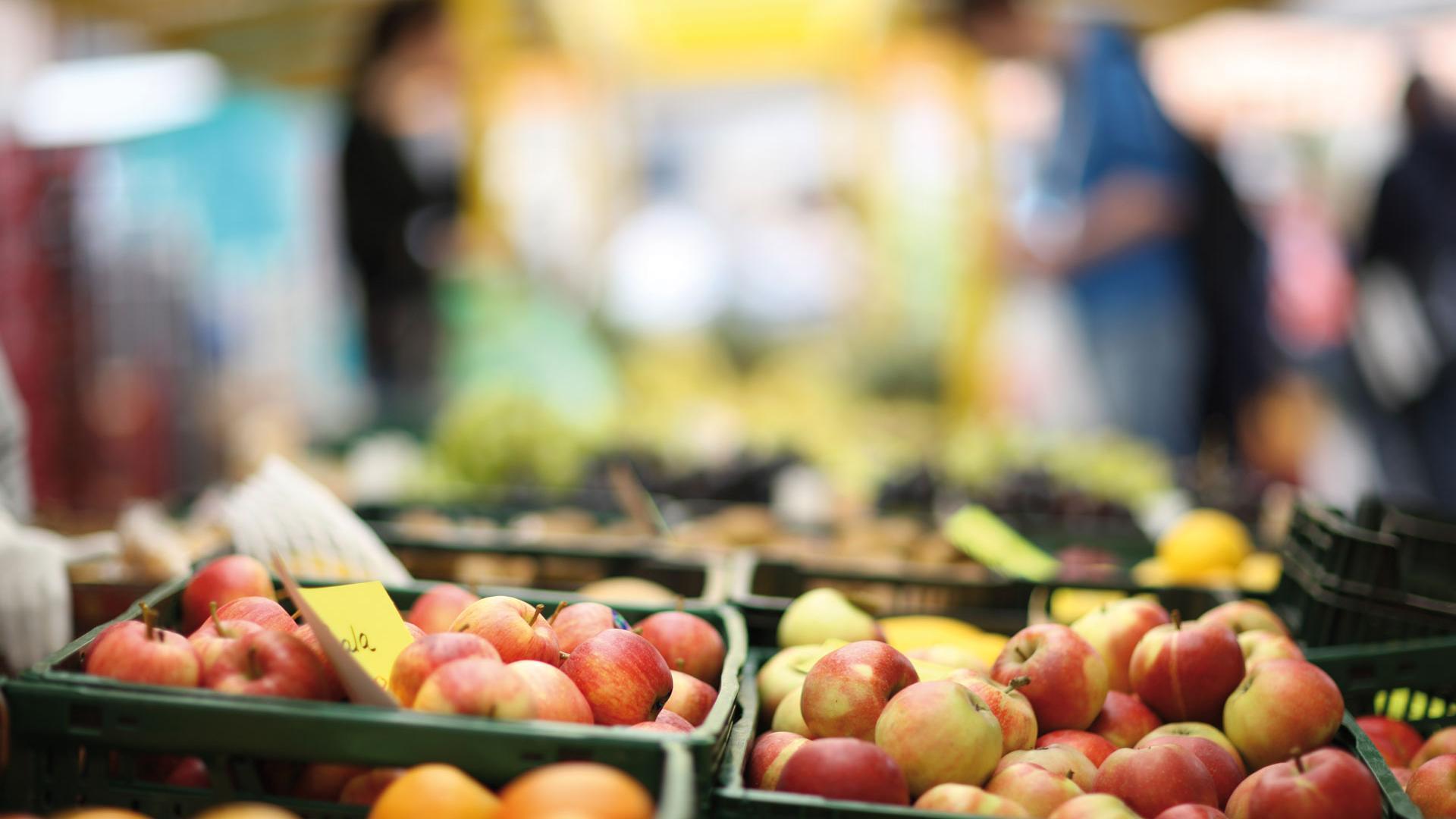 Oldenburger Münsterland - Frisches Obst auf dem Markt
