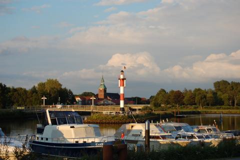 Abendstimmung am Barßeler Hafen