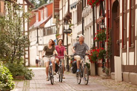 Weserbergland  -  Radfahrer Hameln
