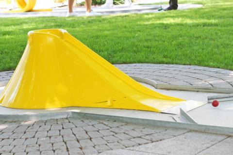 Minigolf an Campingplätzen